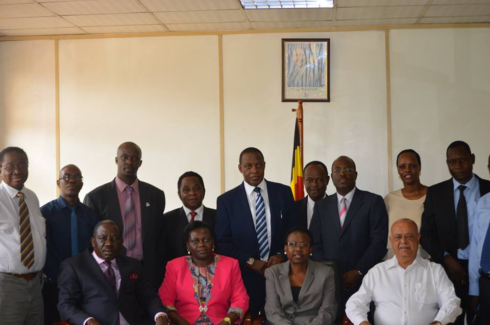 USCRF team with ministry of health team inset Dr Jane Ruth Acheng Minister of Health Uganda, Hon Sarah Opendi Minister of state – general duties.
