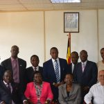 15. USCRF team with ministry of health team inset Dr Jane Ruth Acheng Minister of Health Uganda, Hon Sarah Opendi Minister of state – general duties.