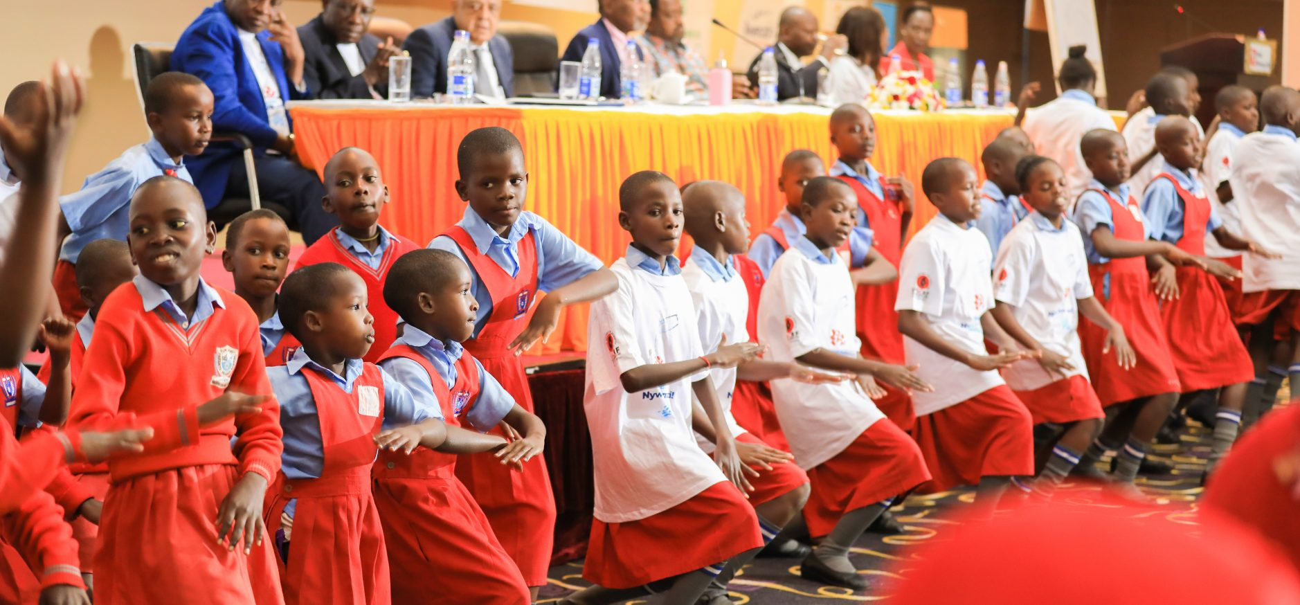 PUPILS FROM LUWERO PRIMARY SCHOOL ENTERTAINING THE GUESTS AT THE 5TH SICKLE CELL CONFERNCE